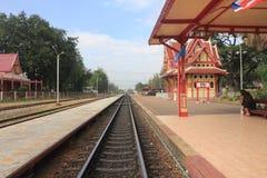 hin Hua stacyjny Thailand pociąg Obraz Royalty Free
