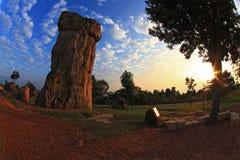 hin khao平均观测距离早晨stonehenge泰国 库存照片