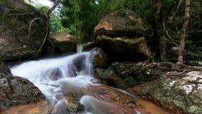 Hin Lad Waterfall. Hin Lad in Jungle , Koh Samui, Thailand Royalty Free Stock Image
