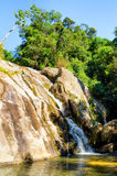 Hin Lad Waterfall.  Royalty Free Stock Image