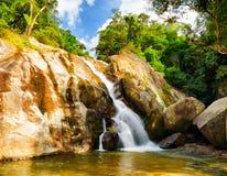 Hin Lad Waterfall. stock photography