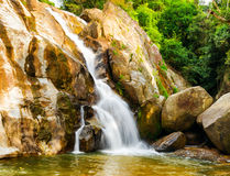 Hin Lad Waterfall. Royalty Free Stock Photos