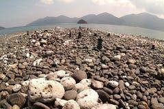 Hin Ngam Island. Beautiful stone in the beach on Koh Hin Ngam , Tarutao Marrine National park < South of Thailand royalty free stock photography