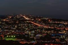 Hin nightscape Thailand Royalty-vrije Stock Foto