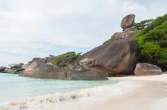 Hin Rua Bai, Similan海岛,泰国的标志 免版税库存照片
