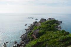 Hin Rua Bai, il simbolo dell'isola di Similan, Tailandia Fotografia Stock