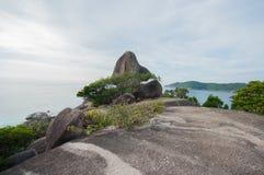 Hin Rua Bai, sailboat rock the symbol of Similan island in Thail Stock Images