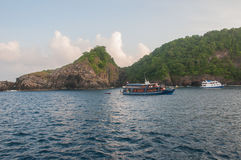 Hin Rua Bai, sailboat rock the symbol of Similan island in Thail Royalty Free Stock Images