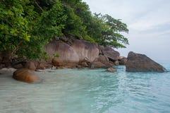 Hin Rua Bai, sailboat rock the symbol of Similan island in Thail Royalty Free Stock Photos