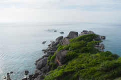 Hin Rua Bai,the symbol of Similan island, Thailand Stock Photography