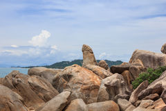 Hin Ta and Hin Yai Rocks Grandmother and Grandfather in Koh Sa. Mui, Thailand Royalty Free Stock Images