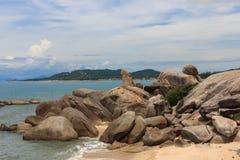Hin Ta i Hin Yai skały w Koh Sa babcia i dziad Zdjęcia Royalty Free