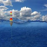 Hin- und Herbewegung im Wasser Stockfoto