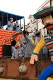 Hin- und Herbewegung und Gefangene (Karneval) Stockbilder