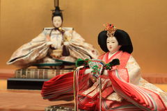 Hina doll (Japanese traditional doll) Stock Photography