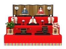 `Hina Ningyou`  Japanese traditional dolls for girls. `Hina Ningyou`  Japanese traditional dolls for girls , 3D illustration Royalty Free Stock Photography