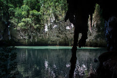 Hinagdanan cave in Panglao. Royalty Free Stock Image