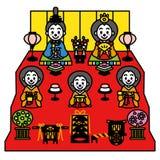 Hinamatsuri, das Puppen-Festival von Japan stock abbildung