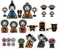 Hinamatsuri, das Puppen-Festival von Japan lizenzfreie abbildung