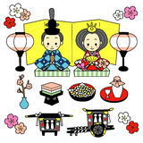 Hinamatsuri. dockafestivalen av Japan royaltyfri illustrationer