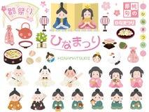 Hinamatsuri dolls festival stock illustration