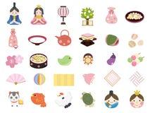 Hinamatsuri dolls festival vector illustration