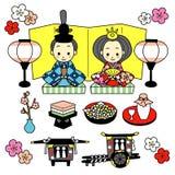 Hinamatsuri. het Doll Festival van Japan royalty-vrije illustratie