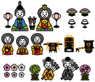 Hinamatsuri, het Doll Festival van Japan royalty-vrije illustratie
