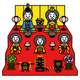 Hinamatsuri lala festiwal Japonia ilustracji