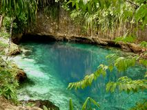 Hinatuan Enchanted River, Surigao del Sur, Philippines. The Enchanted River in Hinatuan is believed to be enchanted. It is located in Mindanao, Philippines Royalty Free Stock Image