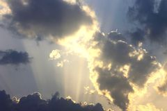 Hinaufkletternde Wolken Lizenzfreie Stockfotografie