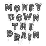 Hincha el dinero Fotografía de archivo libre de regalías