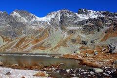 Hincovo pleso, höga Tatras, Slovakien Arkivfoton