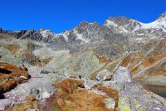 Hincovo pleso, Wysoki Tatras, Sistani Obraz Stock