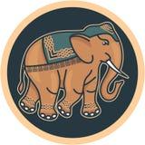 - Hindú - elefante adornado indio ilustración del vector