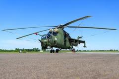 Hind E för Mil Mi-24V från Polen - flygvapen Arkivfoton