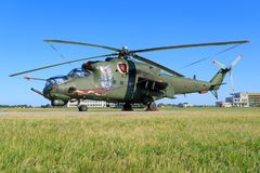 Hind E för Mil Mi-24V från Polen - flygvapen Fotografering för Bildbyråer