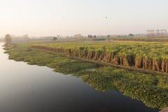 Hindanrivier Uttar Pradesh India Royalty-vrije Stock Foto