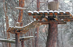 Hindernislauf im Winter Lizenzfreie Stockbilder