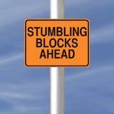 Hindernisse voran Stockfoto
