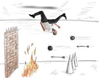 Hindernissen voor het werk vector illustratie