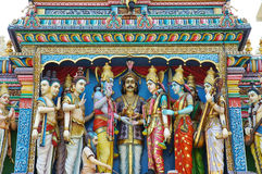 Hindhu Temple. The colorful of hindhu temple Stock Image