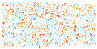 Hindi alphabet texture background Stock Image