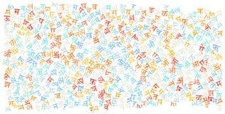 Hindi alphabet texture background. High resolution vector illustration