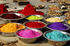 Hindi Colours Stock Photo