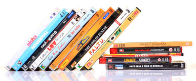 Hindi movies dvd's. Pile of different hindi movies dvd's Stock Image