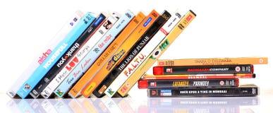 Hindifilme dvds Stockbild