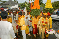Hindische Feier von Pandiale am Heiligen Andre auf La Réunion Stockfoto