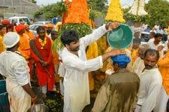Hindische Feier von Pandiale am Heiligen Andre auf La Réunion Lizenzfreie Stockfotos