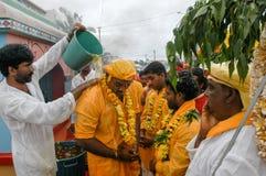 Hindische Feier von Pandiale am Heiligen Andre auf La Réunion Lizenzfreies Stockbild